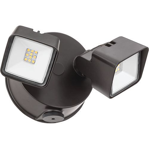 Lithonia Lighting Twin Head Dusk To Dawn Adjule Outdoor Integrated Led Security Light Square Dark