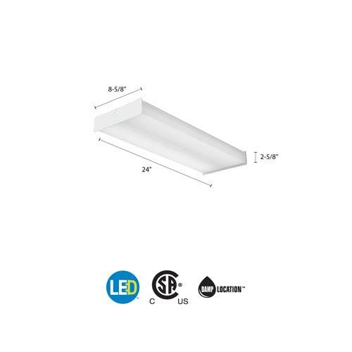 SBL2 LP840 White LED Square Wraparound Ceiling Light 2 Feet 2K Lumens