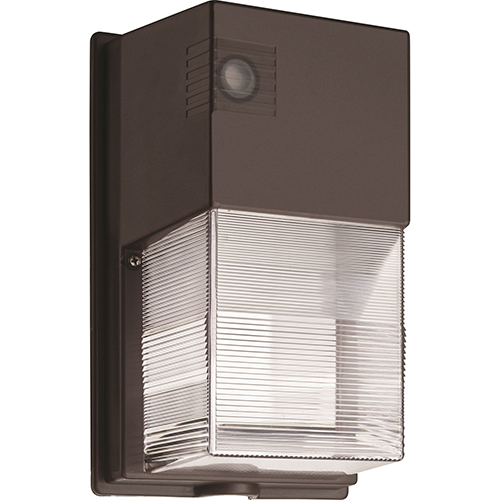 Lithonia Lighting Bronze Dusk to Dawn Integrated Outdoor LED Wall Pack, 25 Watts, 1,475 lumens 100K Hours- Gen 2