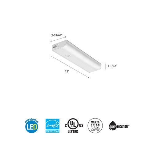 UCEL 12IN 30K 90CRI SWR WH M6 12 Inch White LED Linkable Cabinet Light 3000K