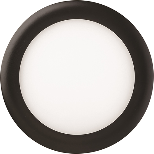 Lithonia Lighting 12.7W LED Ultra Thin 6 Inch Round Dimmable Recessed Ceiling Light 2700K, Warm White in Black