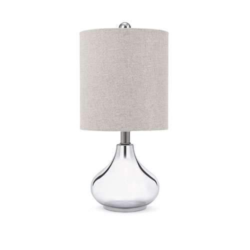 Chrome One-Light Table Lamp