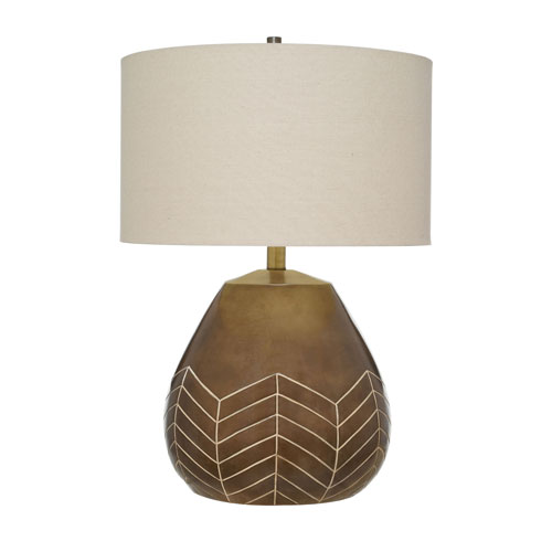 Kayden Painted Glossy Taupe LED Table Lamp
