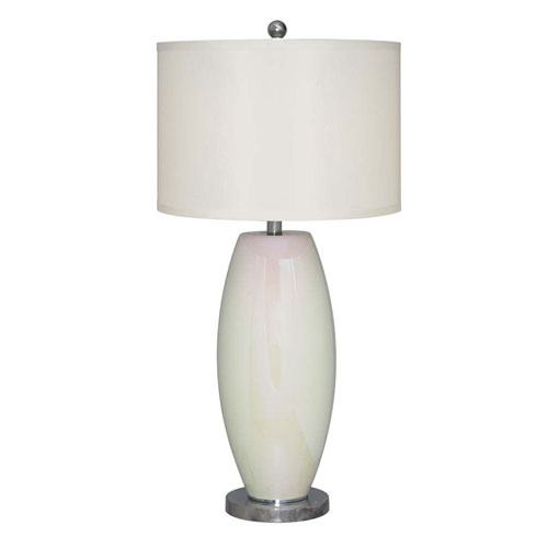 Catalina Lighting Enzo Painted Glossy Opal LED Table Lamp