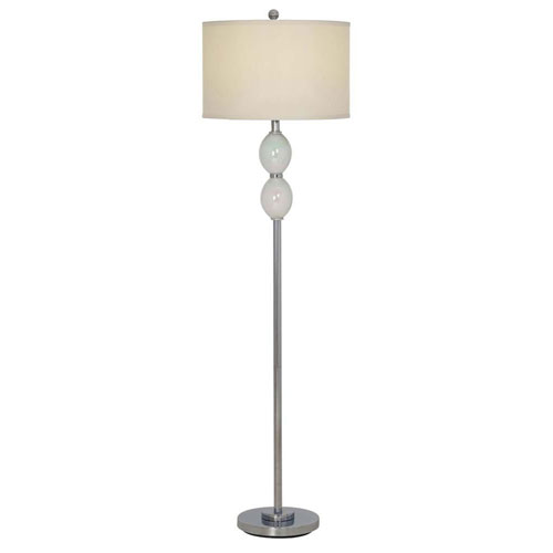 Catalina Lighting Enzo Painted Glossy Opal LED Floor Lamp