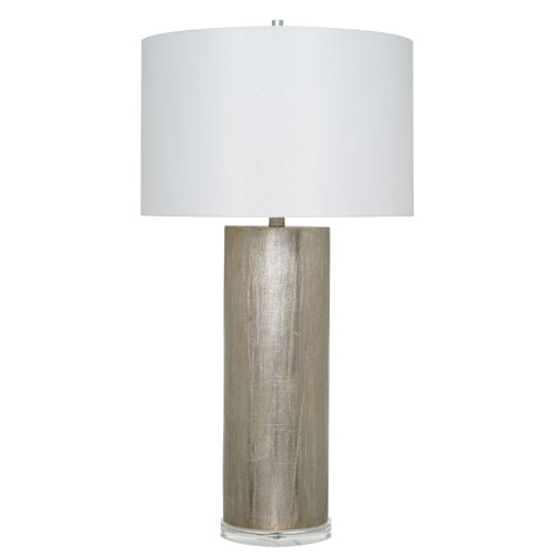 Catalina Lighting Declan Painted Silver LED Table Lamp