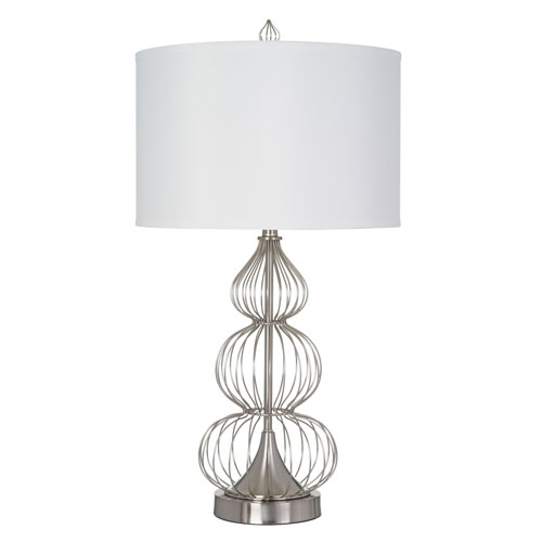 Leilani Brushed Nickel LED Table Lamp