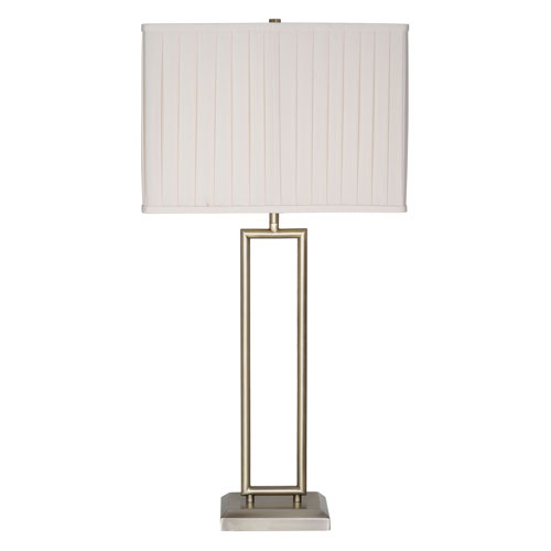 Maya Matte Plated Brass LED Table Lamp