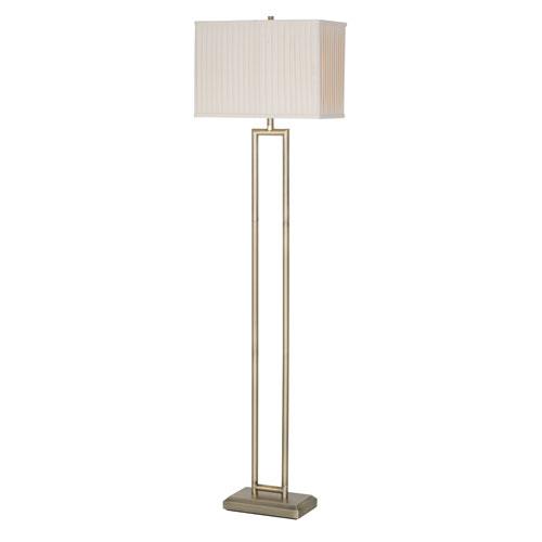 Maya Matte Plated Brass LED Floor Lamp