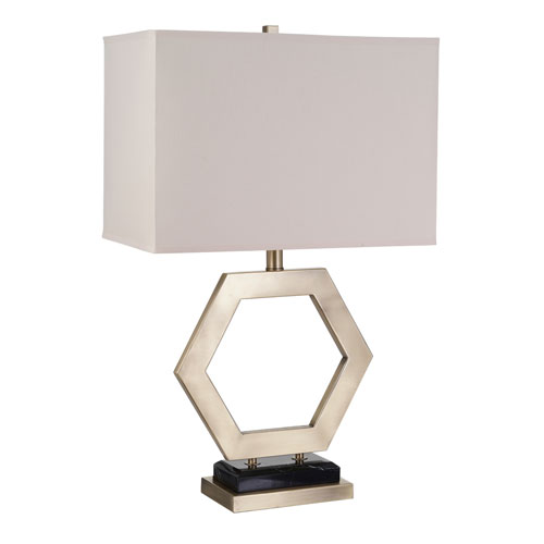 Callie Matte Plated Brass LED Table Lamp