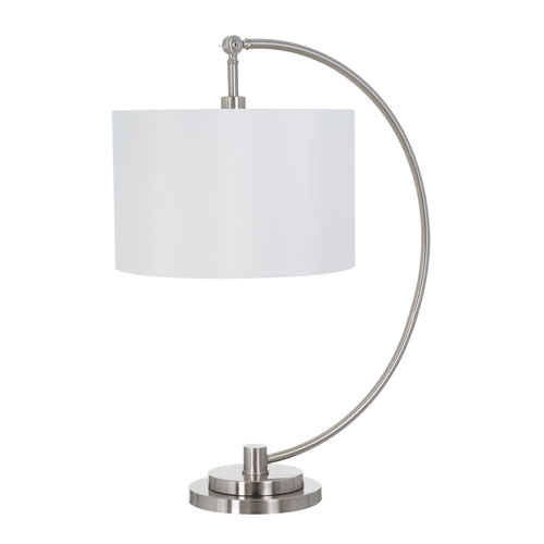 Catalina Lighting Logan Brushed Nickel LED Table Lamp