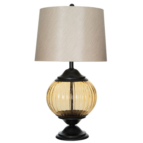 Eleanor Painted Metallic Champagne LED Table Lamp