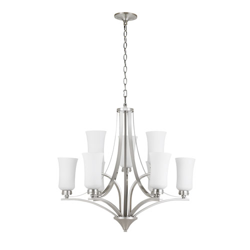 Amaryllis Brushed Nickel Nine-Light Chandelier