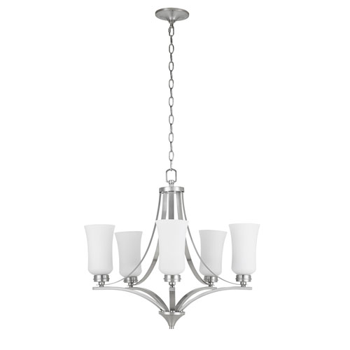 Amaryllis Brushed Nickel Five-Light Chandelier
