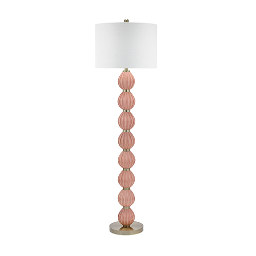 Catalina Lighting Missy Glossy Pink 63-Inch LED Floor Lamp
