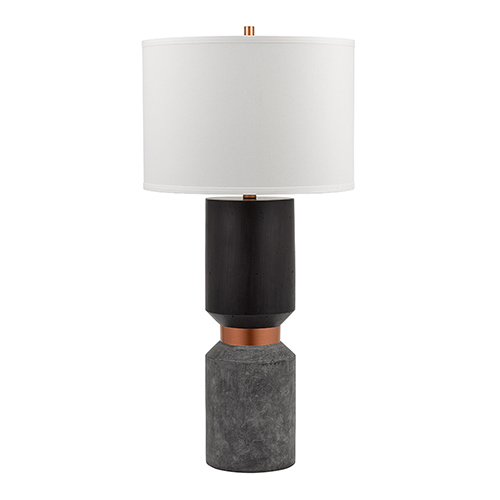 Catalina Lighting Iggy Bronze with Copper Gray 33-Inch LED Table Lamp