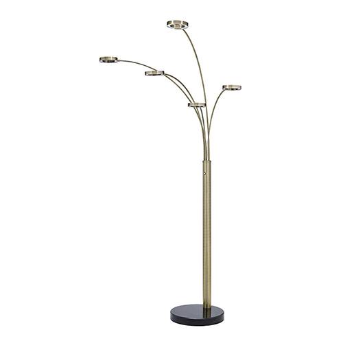 Zain Copper 74-Inch Five-Light LED Floor Lamp