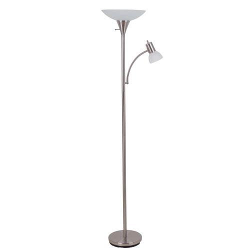 Brushed Steel 13-Inch One-Light Floor Lamp
