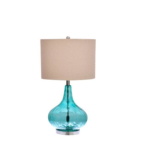 Catalina Lighting Blue One-Light Table Lamp