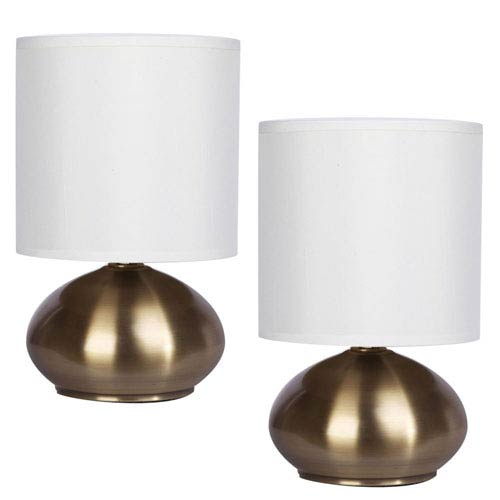 Caden Gold Two-Light Set of Two Lamp Set