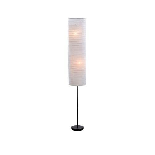 Catalina Lighting Black One-Light Floor Lamp