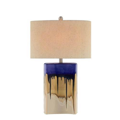 Catalina Lighting Multicolor Drip Glaze LED Table Lamp