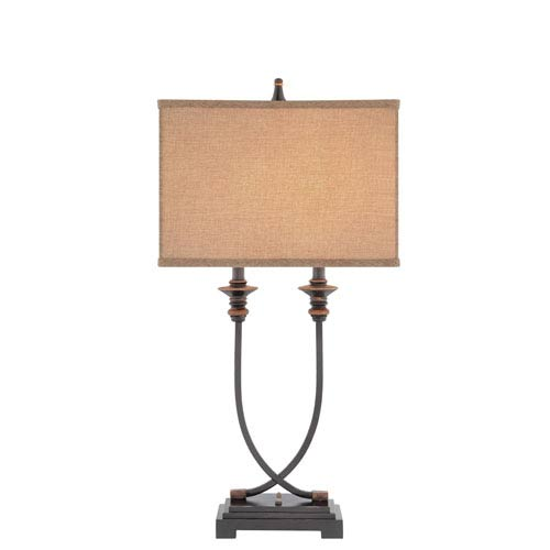 Oil Rubbed Bronze Two-Light Table Lamp