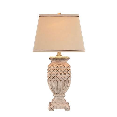 Catalina Lighting Antique White LED Table Lamp
