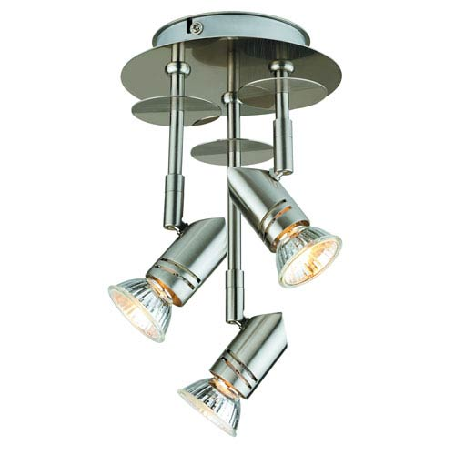 Catalina Lighting Brushed Nickel Three-Light Track