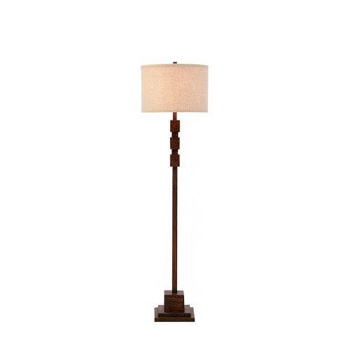 Catalina Lighting Sycamore Dark Faux Wood LED Floor Lamp