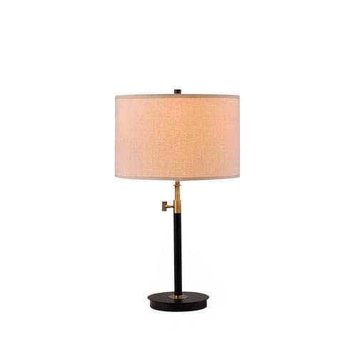Riley Antique Brass and Matte Black LED Table Lamp