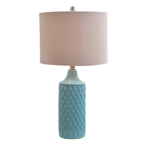 Cassie Spa Blue One-Light Table Lamp