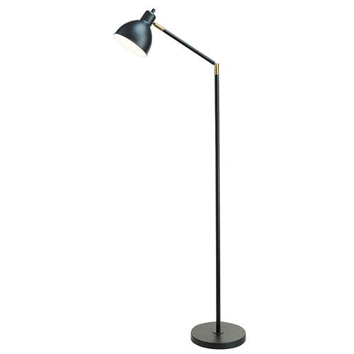 Tensor Lennon Painted Black One-Light  Floor Lamp