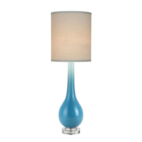 Catalina Lighting Blue Glass LED Table Lamp