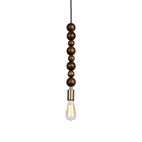 Trek Brass One-Light Mini Pendant