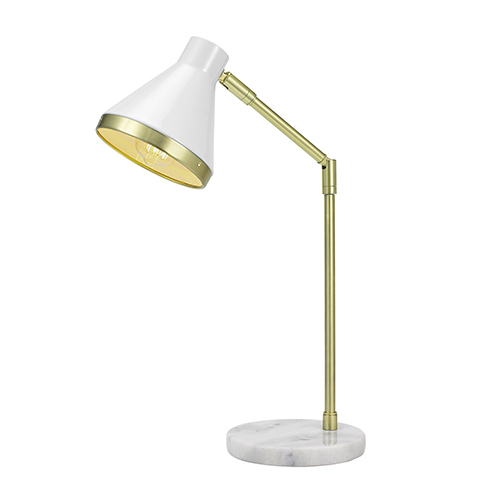 White and Gold LED Table Lamp