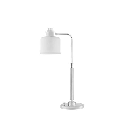 Porter Polished Nickel One-Light Desk Lamp