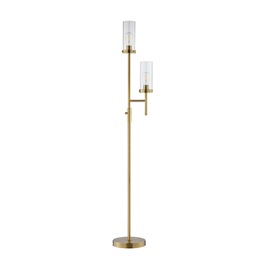 Ryder Polished Bronze Two-Light Floor Lamp