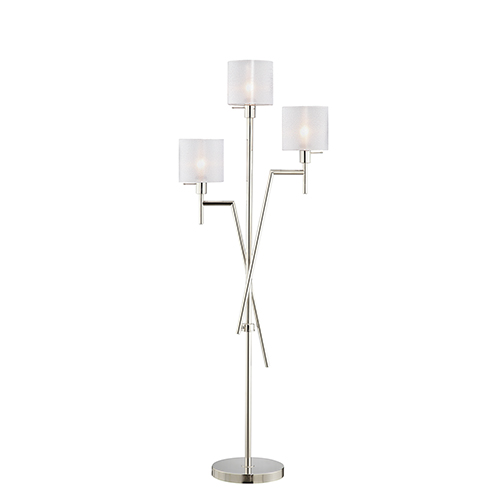 Sutton Polished Nickel Three-Light Floor Lamp
