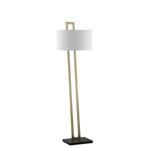 Catalina Lighting Carter Brass and Black One-Light Floor Lamp