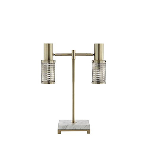 Catalina Lighting Dash Brass and Marble LED Desk Lamp