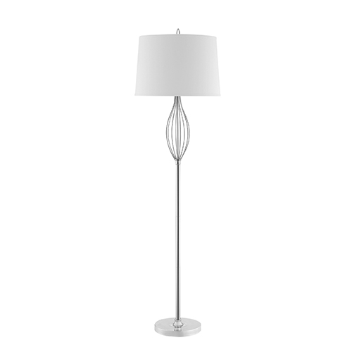 Ivy Polished Nickel One-Light Floor Lamp