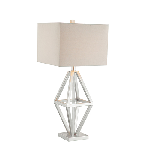 Catalina Lighting Maddox Silver One-Light Table Lamp