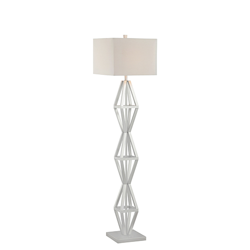Catalina Lighting Maddox Silver One-Light Floor Lamp