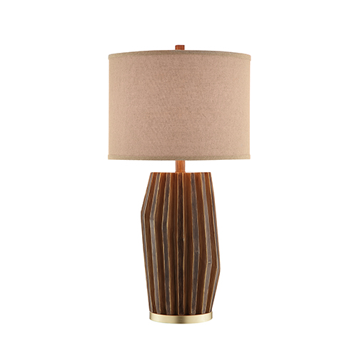 Birch Faux Wood One-Light Table Lamp