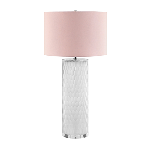 Catalina Lighting Cruz Smoked Glass One-Light Table Lamp