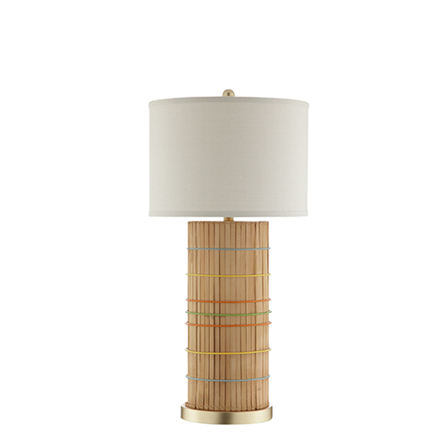 Fritz Rattan One-Light Table Lamp