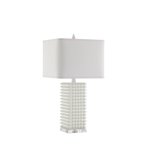 Catalina Lighting Manhattan Matte White One-Light Table Lamp