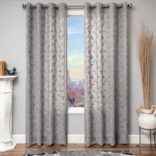 Softline Home Fashions Solomon Grey 84 x 55 In. Monica Pedersen Sonoma Jacquard  Panel