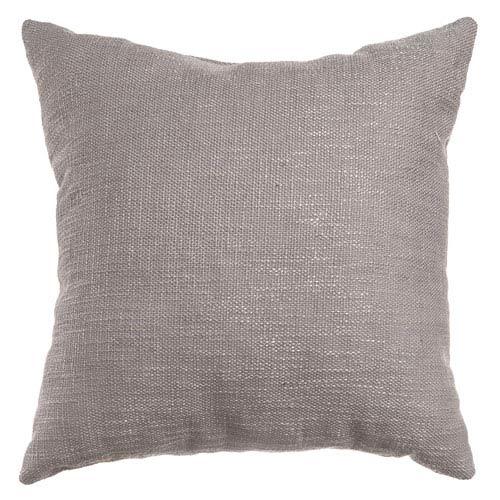 Softline Home Fashions Blaine Platinum 8 x 8 In. Soft Tweed Linen Decorative Pillow